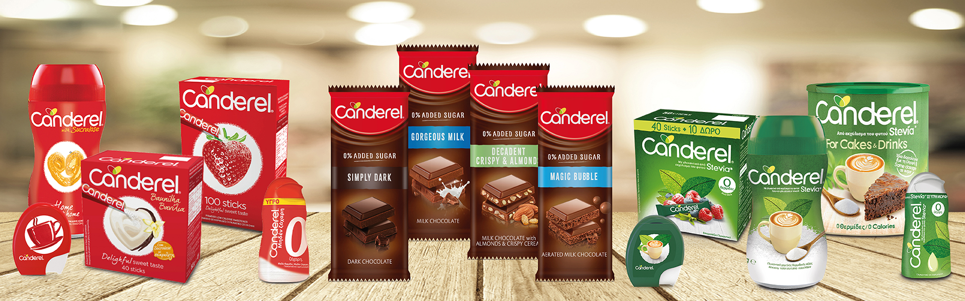 Γλυκαντικά & Σοκολάτες CANDEREL®
